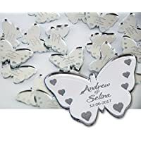 50 Personalised Wedding Confetti - Butterfly Mr&Mrs Table Decoration Wedding Favours - Table Confetti - L1002