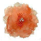 Acosta-Peach, in tessuto tonalità &-Spilla a forma di fiore, tacco medio, per capelli, fascia elastica
