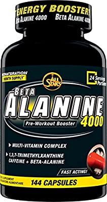 All Stars Beta Alanine 4000 Pre-Workout Booster Capsules Pack of 144