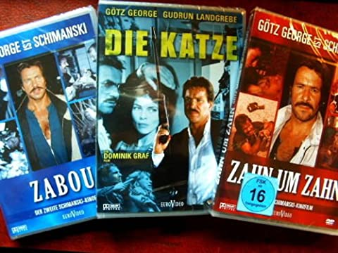 SCHIMANSKI - Götz George ZABOU + ZAHN UM ZAHN +DIE KATZE - Tatort 3 DVD Collection (Schimanski Tatort)