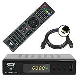Opticum HD C200 Full HD DVB-C Kabelreceiver + HDMI Kabel (HDMI/SCART/USB), Mediaplayer schwarz