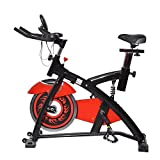 homcom Spin Bici Bicicletta Bike Indoor Allenamento Aerobico Ciclo Home Fitness Palestra In Casa Con Display a LED Rosso