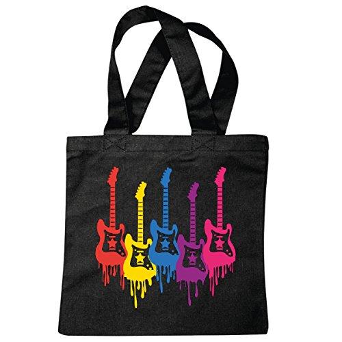 Tasche Umhängetasche Musik - Rock n Roll - Salsa - Music - Disco - Gitarre - Hardrock Einkaufstasche Schulbeutel Turnbeutel in Schwarz