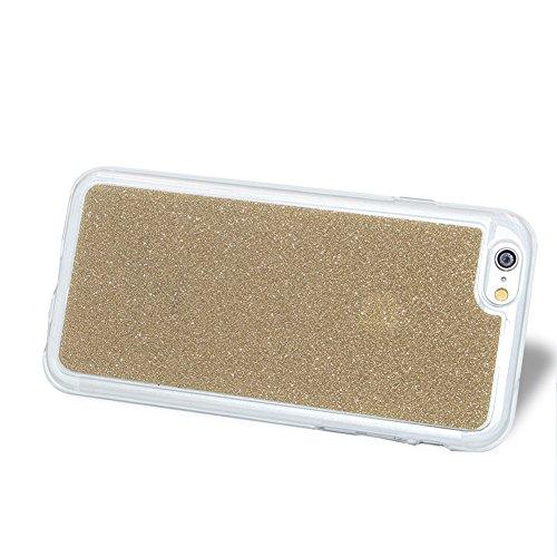 per iPhone 7 4.7 Custodia case,Herzzer Mode Crystal per iPhone 7 4.7 Creativo Elegante Transition Color cover,Protettivo Skin lusso di Glitter Bling Gradiente Colore fuxia,Unico Molto sottile Modeli Oro