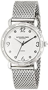 Stuhrling Original Vogue Couture Women's Quartz Watch with Silver Dial Analogue Display and Silver Stainless Steel Strap 736.01