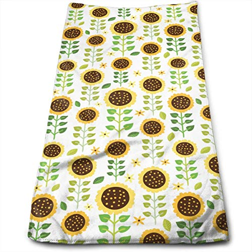 Kitchen Hand Towel Neat Sunflower Durable Antibacterial and Highly Absorbent Reusable Polyester Towel
