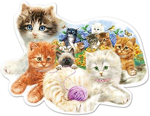 SunsOut A Litter of Kittens Shaped Jigsaw Puzzle (1000-Piece) | Large Sélection