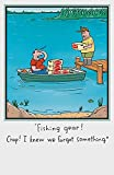 Humorvolle Angeln Gear Geburtstagskarte
