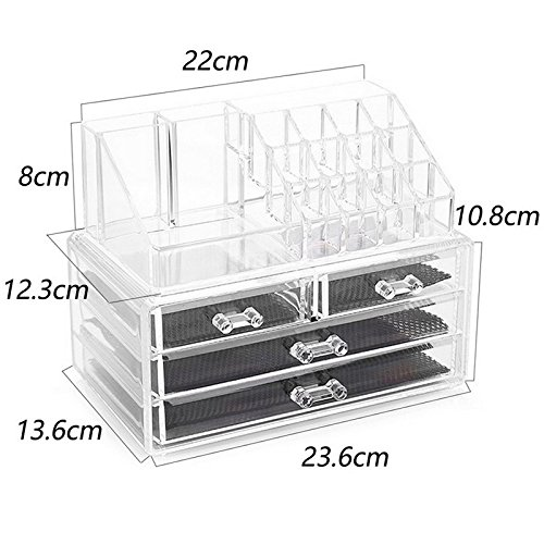 Image result for 4 drawer acrylic jewelry box