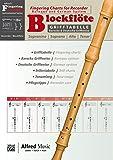 Alfred's Fingering Charts Instrumental Series: Grifftabelle Blockflöte | Fingering Chart Recorder  |  Blockflöte  |  Buch