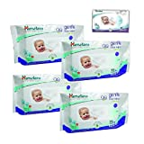 Himalaya Gentle Baby Wipes, 72+12 Pieces (Pack of 4)