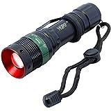 HQRP Lampe de poche à haute puissance torche LED 3W 625nm rouge avec focale réglable pour l'astronomie / aviation / vision nocturne