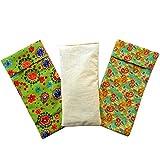 Oreillers pour les yeux 'Duo Pack - Vert' (1 rembourrage et 2 housses lavables)' | Graines de Lavande et de riz | Yoga, méditation, relaxation, reposer des yeux...