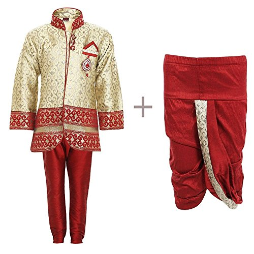 ahhaaaa Sherwani, Payjama and Dhoti Pant Set for Boys (6-12 Months)