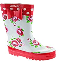 Lelli Kelly LK8850 (Rosso) White Floral Wellies-25 (UK 7)