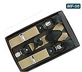 LLZGPZBD Hosenträger/Hosenträger für MännerHosen Hosen Brace Strap Black Dot Lederarmband 125 cm Herren Hosenträger, 6