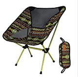 ZH Folding Camp Chair, im Freien bunter Klappstuhl Moon Stuhl Angeln Stuhl Direktor Stuhl Aluminium Stuhl Ultraleicht Tragbar (Color : Indian Coffee)