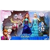 Disney Frozen - Die Eiskönigin - Exclusives Puppen Set - Anna + Elsa + Olaf + Sven - 37cm (USA Import)