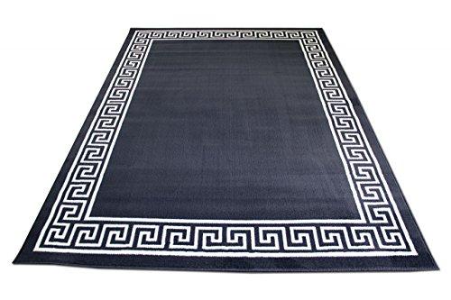 TrendLine Teppich Anthrazit Römisch Bordüre in 4 Größen