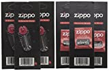 Zippo Lighter Wicks x3 & Flints x3 Reels, Packs - Value 6 Pack for Zippo Petrol Lighters, Clipper