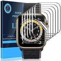 LK Compatible con Apple Watch Series 6 Series 5 Series 4 SE 40mm con Apple Watch Series 3 Series 2 Serie 1 38mm Protector de Pantalla, 6 Pack,TPU-Film,Alta definición,LK-X-76