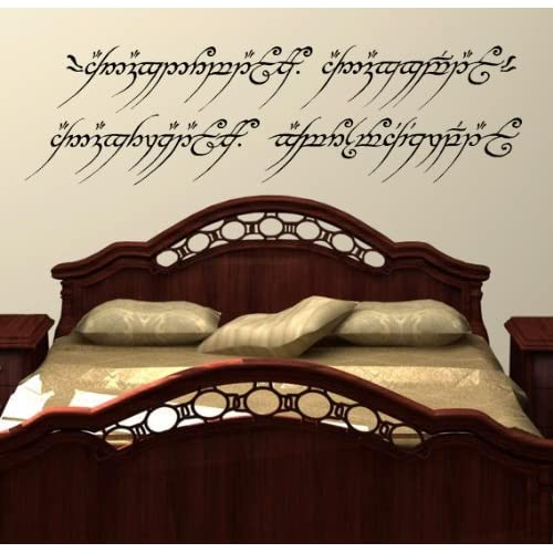LightningSigns - Adhesivo decorativo para pared (27,5 x 96 cm), diseño de Lord of the Rings 4