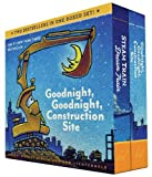 Goodnight, Goodnight, Construction Site and Steam Train, Dream Train Board Books Boxed Set: (Board Books for Babies, Preschool Books, Picture Books for Toddlers)