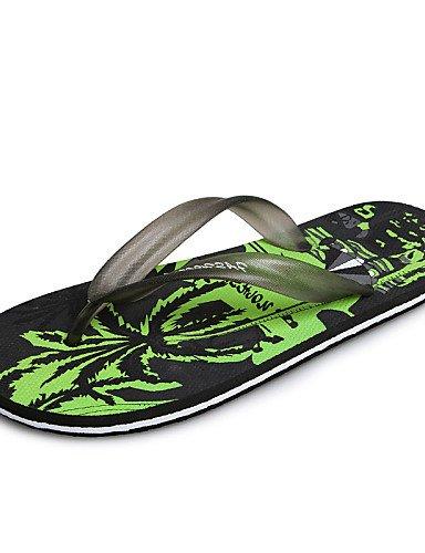 NTX/Herren Schuhe Outdoor/Casual Latex Summer Fashion Beach Sea Flip Flops, Schwarz/Blau/Rot red-us10 / eu43 / uk9 / cn44