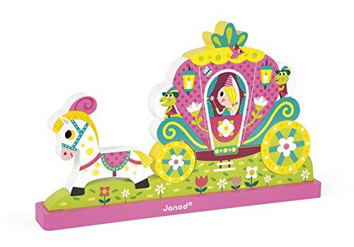 Janod - J08026 - Puzzle Vertical Magnétique Princesses 9 pcs (bois)