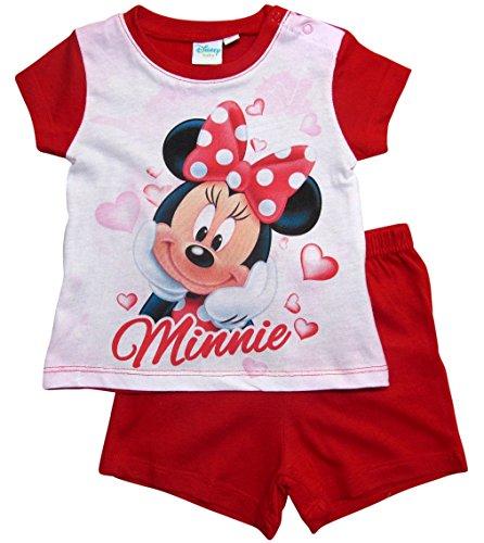 Minnie Mouse Kollektion 2018 Schlafanzug 68 74 80 86 92 Mädchen Shorty Pyjama Shortie Disney Maus (Rot, 86)