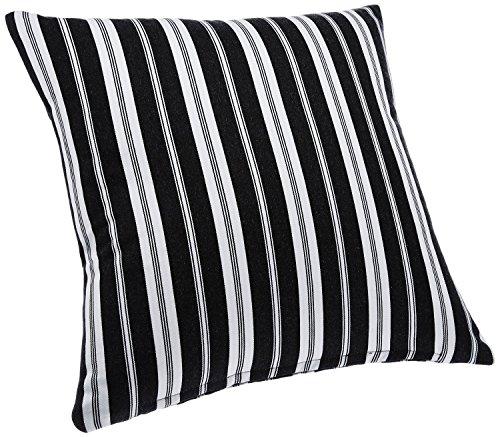 Blue Alcove Delhi Stripes Cushion Cover - Black and White (SGCC-19)