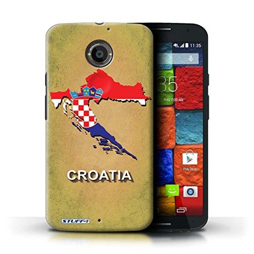 Kobalt® Imprimé Etui / Coque pour Motorola Moto X (2014) / Amérique/Américain/USA conception / Série Drapeau Pays Croatie/Croate