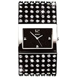 Seksy Model 4753.37 Ladies Analogue made with Swarovski Crystal Leather Strap Watch