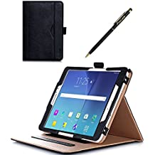 ProCase Funda Samsung Galaxy Tab S2 8.0 - Clásico Folio de Soporte Cubierta Inteligente Plegable para 2015 Galaxy Tab S2 Tablet (8.0 pulgada, SM-T710 T715 T713) - Negro