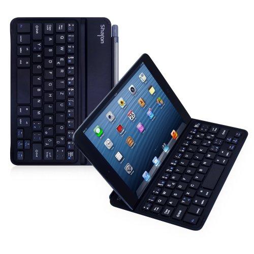 Sharon Ultradünnes Cover mit Chiclet - Tastatur für das Pad Mini 3 iPad Mini 2 iPad Mini | Mit magnetischem Scharnier, IQ-RKS - Layout, - Das Ipad Tastaturen Für Mini