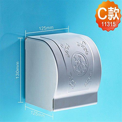 LOSTRYY Toilettenpapier Halter WC-Papier Halter Bad WC-Papier Tablett,C -
