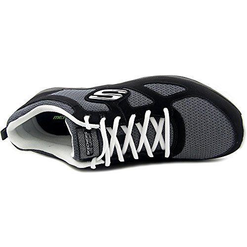 Skechers Burns-Agoura Hommes Cuir Chaussure de Marche Black-White