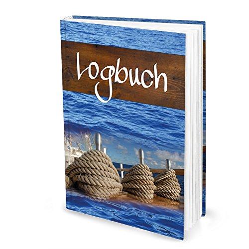 XXL DIN A4 HARDCOVER Logbuch SAILING - Yachtlogbuch Schiffstagebuch Buch nach amtlichen Vorschriften Eigner Yacht Segeln Segler Geschenk Segelyacht Motorboot Besitzer - für 100 Tage auf See