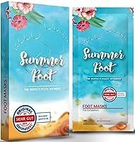 SUMMER FOOT Premium Fußmaske zur Entfernung von Hornhaut I Samtweiche und zarte Füße nach nur einer Anwendung I...