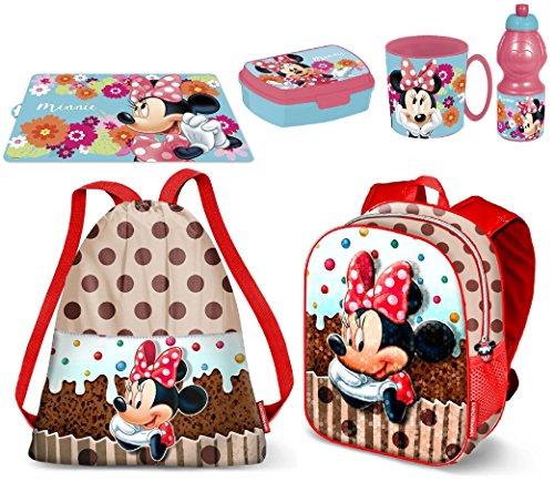 Minnie disney muffin pallietes in 3d zainetto zaino,sacca sport,porta merenda scuola asilo tempo libero