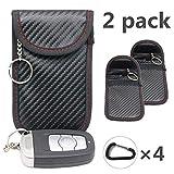 2X Autoschlüssel Tasche Keyless Go Schutz Fob Signalblocker Faraday Tasche Anti-Strahlung Abschirmung Brieftasche Fall für Da