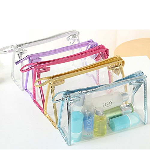 attachmenttou Bolsas cosméticas transparentes transparentes de la cremallera del viaje del bolso del maquillaje del PVC