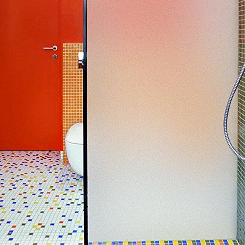 Yahee Milchglasfolie Blickschutzfolie reine mattierte Glasdekorfolie für Wohnzimmer, Schlafzimmer, Badezimmer, Küche