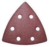 50 Schleifblätter Schleifdreiecke mit 6- Loch 93x93x93 mm verschiedene Körnungen wählbar - für viele Dreieckschleifer (Korn P240)