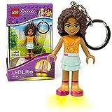 LEGO-Schlüsselanhänger, Taschenlampe, Schlüsselanhänger mit 18 Charakteren, LED-Taschenlampe, Film, Star Wars, Freunde, DC Superhelden, Batterien im Lieferumfang Enthalten, Friends Andrea