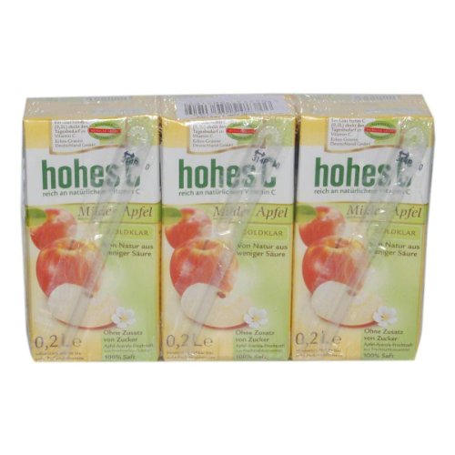 german-hohes-c-unfiltered-apple-juice-3-x-200-ml