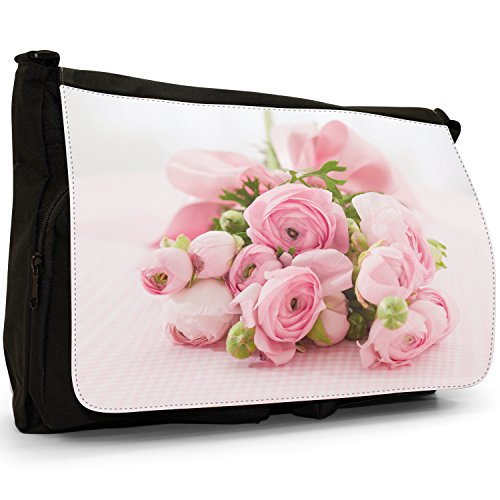 Fancy A Bag Borsa Messenger nero Red Rose Passion Beautiful Message Roses