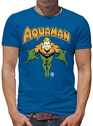 TLM DC - Aquaman T-Shirt Herren XXXL Azure (Shirt Aquaman Kostüm)