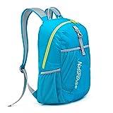 HYSENM Unisex Rucksack Daypack faltbar wasserdicht Bergsteiger Reisen Camping 22L, Eisblau