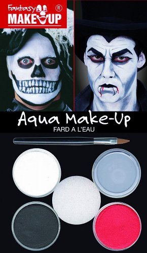 KREUL 37085 Fantasy Aqua Make Up Picture Pack Dracula/Tod (Pinsel Mit Tod Kostüm)